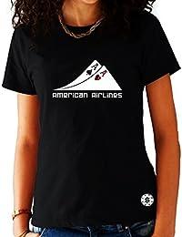 T-shirt Femme Poker Noir - Paire d'As Américan Airlines