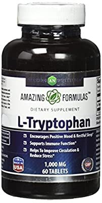 L-Tryptophan Dietary Supplement - 60 Tablets