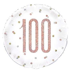 Unique Party 84910 - Globo de papel de aluminio, color oro rosa