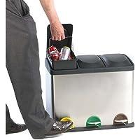 SHS–Manipulación wb0983–3reciclaje Pedal basura con 3compartimentos