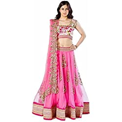 lehenga choli for women net party wedding wear with dupatta low price by lady loop