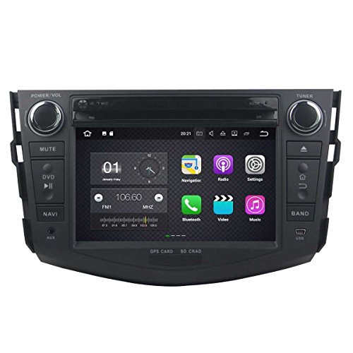 7.1 OS Autoradio für Toyota RAV4 2006 2007 2008 2009 2010 2011 2012, DAB+ Radio kapazitiver Touchscreen mit Quad Core 1.6G Cortex A9 CPU 16G Flash und 2G DDR3 RAM GPS Navi ()