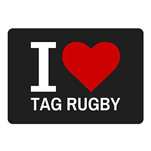 420 Rugby (Mousepad Classic I Love Tag Rugby schwarz)