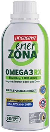 Enerzona Enervit, Integratore Alimentare per il Controllo del Colesterolo e Trigliceridi, Omega 3 RX - 240 Cap