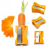 SystemsEleven Carrot Cucumber Sharpener Peeler Kitchen Salad Tool Vegetable Fruit Curl Slicer