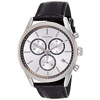 Calvin Klein Men's Quartz Watch, Analog Display and Leather Strap K4M271C6