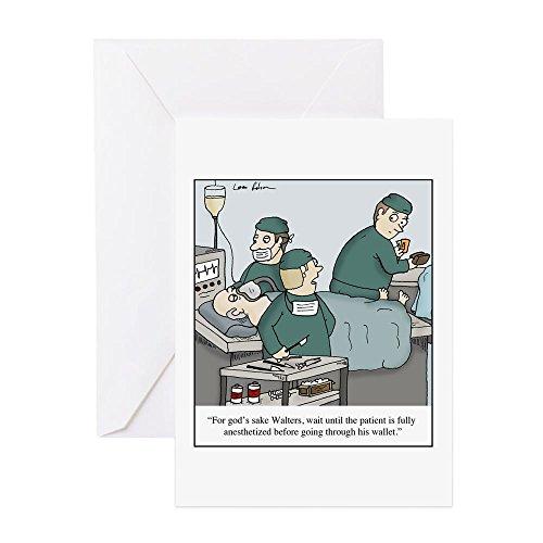 CafePress-Chirurg Going durch Wallet-Grußkarte, Note Karte, Geburtstagskarte, innen blanko, matt (Chirurg Noten)