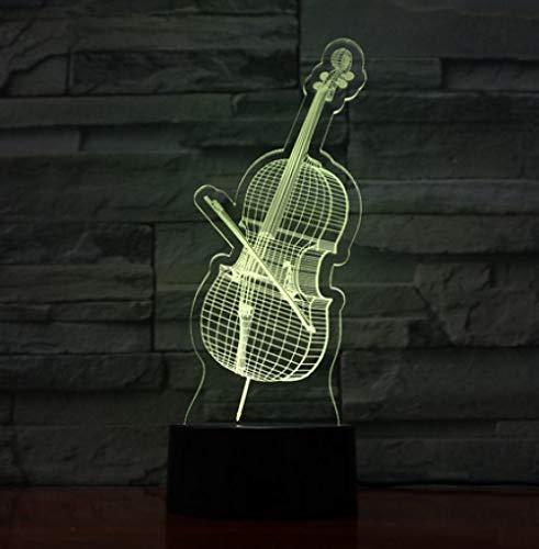 LED Lampe USB 3D Lampe Violine Instrument Schlafzimmer Lichter Atmosphäre Licht Neuheit Geschenke ()