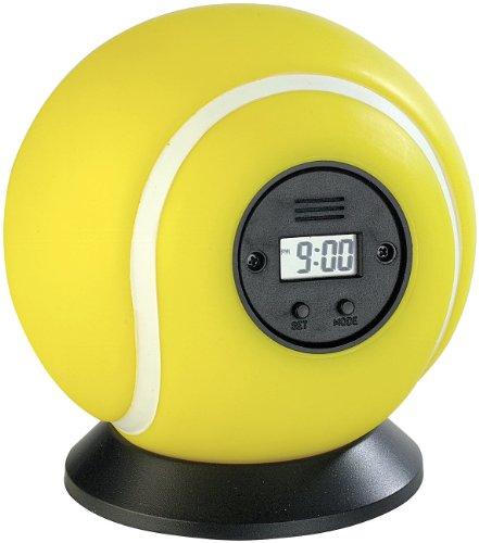infactory Ball Wecker: Wurfwecker Tennisball (Punchingball)