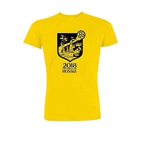 2018 fifa world cup russia t-shirt artwork yellow
