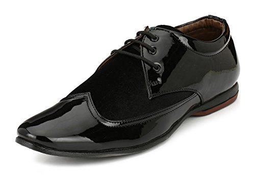 ShoeDealsIn Men's Black Brogue Shoes - 7 UK