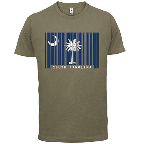 South Carolina/Süd-Carolina Barcode Flagge - Herren T-Shirt - Khaki - S - Carolina Flagge T-shirt