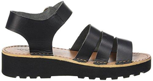 Kickers Clipper, Sandales Femme Noir