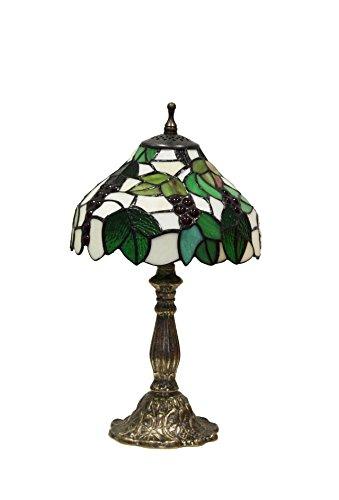 Komplett-mit Base Seerose klein und Tiffany Trauben weiß/grün (Tiffany Seerose)
