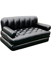 E10 Star 5 In 1 Inflatable Sofa Air Bed Couch With Electric Pump (Black)