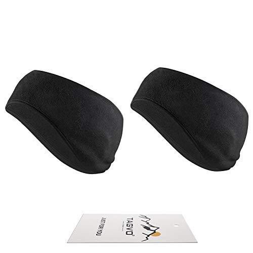 TAGVO Bandeau d'oreille léger,Hiver Bandeau Cache-Oreilles Tissu Chaleureux Confortable molletonné avec Couverture complète Oreille Extensible Unisexe pour Adulte Hommes Femmes Sport Quotidien