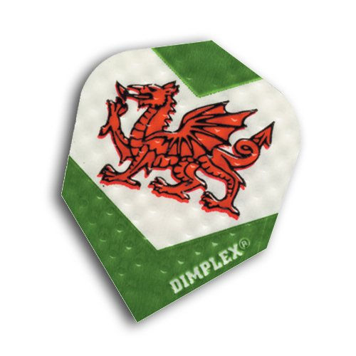 F6032 Welsh Dragon Dimplex Dart Flights 4 sets pro pack (12 flights insgesamt).