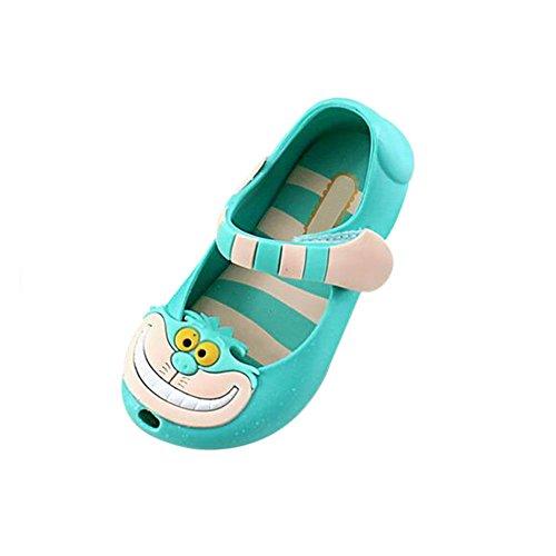 Meijunter Sommer Baby Jungen Mädchen Mode Anti-Rutsch Weich Gelee Fisch Mund Lässige Schuhe Kleinkind Kinder Strand Sandalen Regen Stiefel Grün
