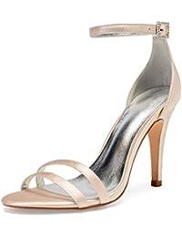 7cc64274f58 Amazon.es  zapatos color champagne - Sandalias de vestir   Zapatos ...