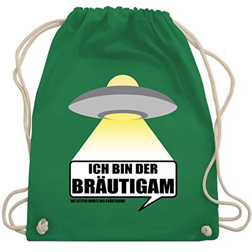 JGA Junggesellenabschied - Alien - Ich bin der Bräutigam - Unisize - Grün - WM110 - Turnbeutel & Gym Bag