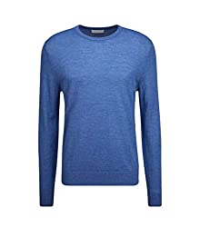 Tiger of Sweden Herren Pullover aus Wolle in Hellblau meliert