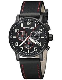 Wenger Unisex-Armbanduhr 01.0343.104 WENGER  ATTITUDE CHRONO Analog Quarz Leder 01.0343.104 WENGER  ATTITUDE CHRONO