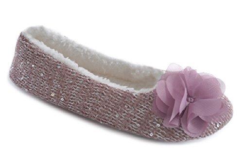 SlumberzzZ, Pantofole donna Pink & Silver