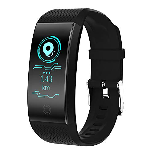 LMMET Activity Tracker GPS,Fitness Tracker Smartwatch Compatibile iOS,Android Bluetooth per iPhone Samsung Xiaomi Huawei Smart Watch Uomo Donna Bambini,Monitoraggio della frequenza cardiaca,QW18