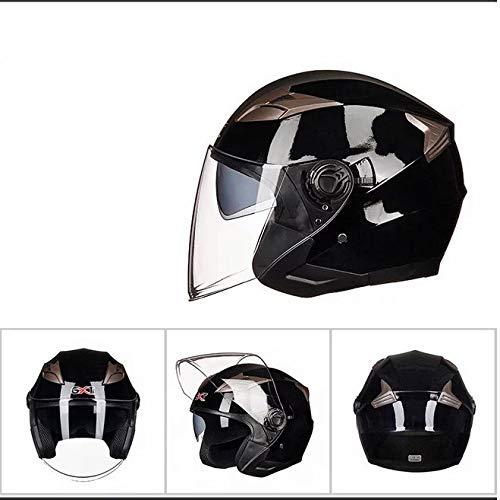 Mdsfe Casco moto uomo e donna mezzo casco casco auto elettrica doppia lente può essere installato Bluetooth fresco casco motocasco kappa
