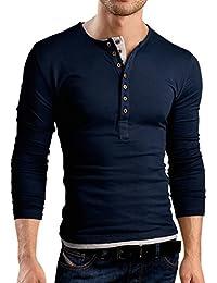 Grin&Bear T-Shirt à coupe slim et à col à boutons, BH125