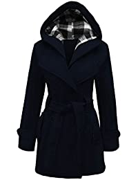 CANDY FLOSS NEW LADIES HOODED BELTED FLEECE JACKET WOMENS COAT Navy Blue PLUS SIZE 24