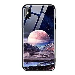 Maju Glashülle Schutzhülle aus Schutzglas und TPU Handyhülle Case Hülle Tasche Case Front Cover kompatibel mit Samsung und iPhone (iPhone 6S, Mars)