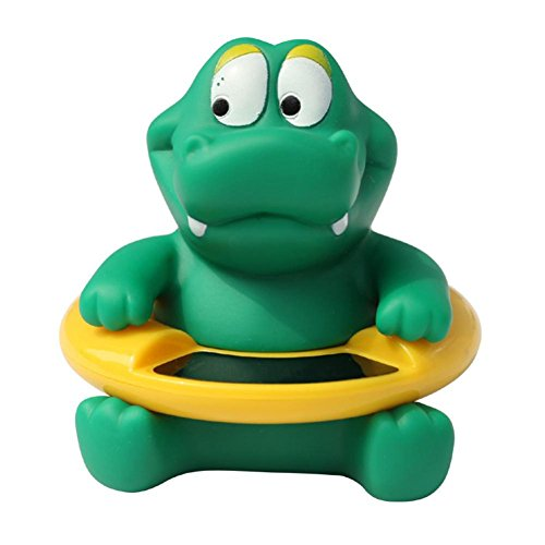 Baby Badethermometer Wasserthermometer Badespielzeug, Gusspower niedlichen Tier Säugling Bademantel Thermometer Wasser Temperatur Tester Spielzeug für Baden Sicherheit (Grünes Krokodil)
