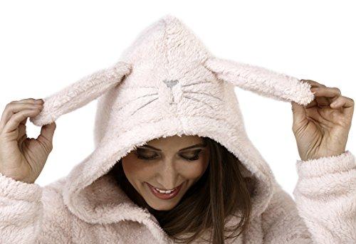 Boutique Damen Overall Neu Damen Alles In Einem Schlafanzug Loungwear Sparkle Rabbit Onesie