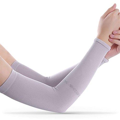 Hippolo Reiten Arm Sleeves Elbow Ärmel Sonnenschutz für Damen und Herren Kühlung Radsport Armlinge (Lila1)
