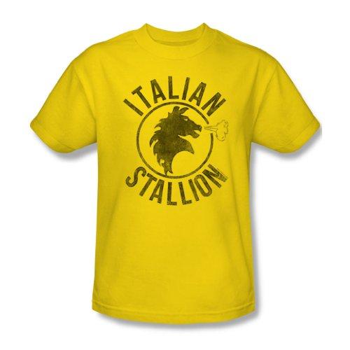Rocky - Herren italienische Hengst T-Shirt in gelb, XXX-Large, Yellow