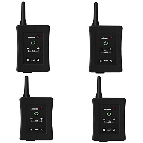 KCaNaMgAl Referent Walkie-Talkie, Bluetooth super Batterie wasserdicht 4 Personen Vollduplex Bluetooth Walkie-Talkie geeignet für Schiedsrichter Luftbild-Ski Golf,Four