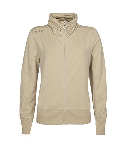Xfore Damen Golf Sweatshirt Jacke St. Albain mit Glitzer-Stickerei, in Beige, Gr M