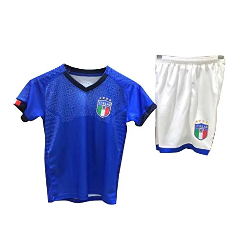 TOOGOO Familie Atmungsaktive Sportbekleidung Fussball Set Weltmeisterschaft Italien Fussball Trikots Uniformen Fussball Kit Shirt Trainingsanzug (Kinder, M) (Kinder Fußball-uniformen Für)