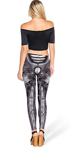 Belsen Damen Deadpool Elastic Leggings Pants Bleistifthosen chain