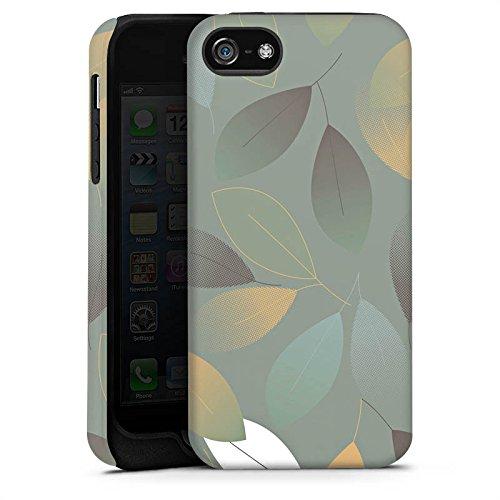 Apple iPhone X Silikon Hülle Case Schutzhülle Herbst Blätter Grün Tough Case matt