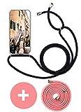 Handykette Handyhülle mit Band für Huawei Mate 10 Pro Cover - Handy-Kette Handy Hülle mit Kordel Umhängen -Handy Halsband Lan