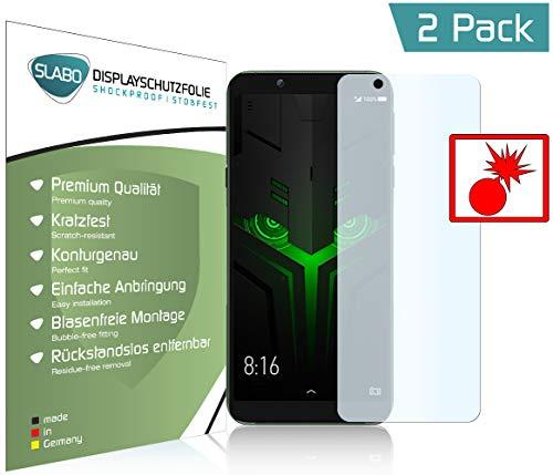 Slabo 2 x Panzerschutzfolie für Xiaomi Black Shark 2 Helo Panzerfolie Bildschirmschutzfolie Schutzfolie Folie Shockproof KLAR