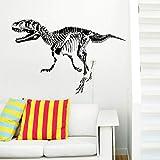 Wand Vinyl Aufkleber Decals Wandbild Raum Design Muster Dinosaurier Dino Jurazeit Welt Skelett Wild Animal Fossil 50x70cm