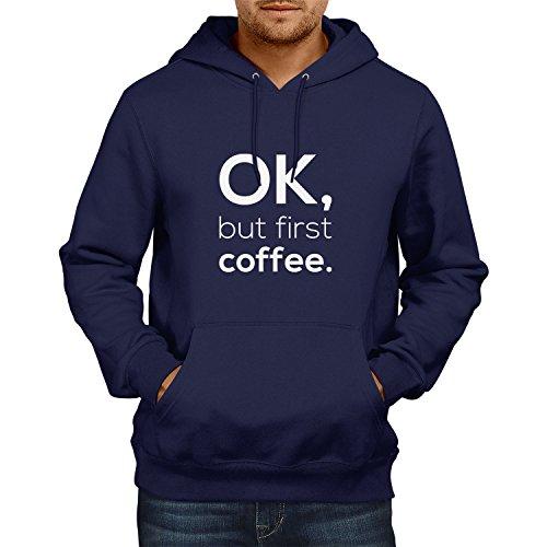 NERDO OK, but First Coffee. - Herren Kapuzenpullover, Größe S, ()