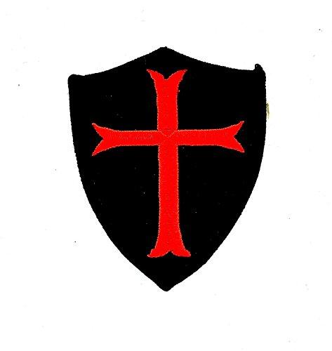 Patch Ecusson-gesticktem zum Aufbügeln Tempelritter Wappen Kreuzzug Airsoft Ritter R2 R2 Paintball