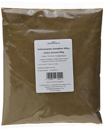 JustIngredients Essential Sellerie gemahlen, Celery Ground, 2er Pack (2 x 500 g)