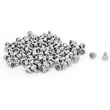 M 2,5 x 3 mm Llave hexagonal moleteado DIGITALJIMS tornillos de cabeza hueca pernos 100 piezas