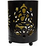 Hashcart Traditional Tea Light Candle Holder/Metal Candle Light Holder Set/Designer Votive Candle Holder Stand/Table Decorative Candle Holders, Laxmi, Ganesh & Om Shadow Tea Light For Home Living Room & Office