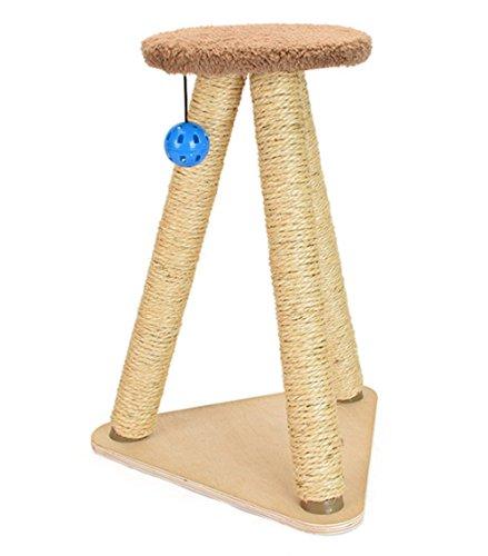 Kratzbaum-Spielzeug-Kratzbaum-Dreieck-Form Mit Ball Sisal Brown (Scratcher Sisal)